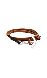 Кожаный браслет с серебряным покрытием modern anchor - Miansai