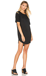 Платье-футболка на шнуровке - David Lerner