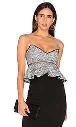 French lace peplum top - NICHOLAS