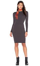 Вязаное темно-серое платье - Bishop + Young
