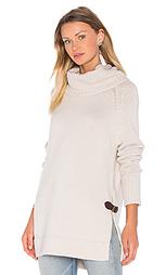 Cowl neck side buckle sweater - Autumn Cashmere