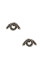 Инкрустированные серьги-гвоздики в один оборот - Marc Jacobs