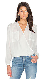 Long sleeve drape front blouse - IKKS Paris