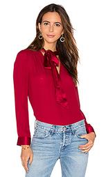 Блуза с завязкой на линии шеи irma - Alice + Olivia
