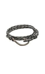 Веревочный браслет с матово-черным крючком - Miansai