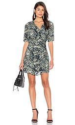 Платье с запахом длинным рукавом и тропическими принтами - IKKS Paris