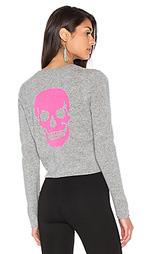 Кашемировый свитер с рисунком череп trova - 360 Sweater