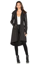 Drape anorak jacket - BLANC NOIR