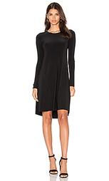 Платье с юбкой солнцеклёш длинный рукав - Norma Kamali