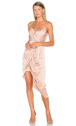 Короткое платье из замши и шелка с глубоким вырезом - Zimmermann