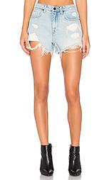 Рваные джинсовые шорты bite - DENIM x ALEXANDER WANG