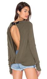 Рваный свитер с переплетом на спине - Pam & Gela