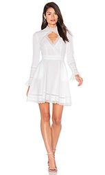 Lace insert keyhole front dress - NICHOLAS