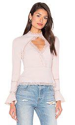 Diamond cut out lace top - NICHOLAS