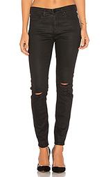 Рваные узкие джинсы с покрытием - BLANKNYC