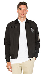 X art comes first contrast sleeve harrington jacket - Fred Perry