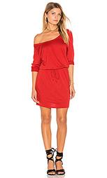 Мини платье с широким вырезом - Lanston