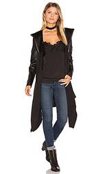 Пальто с капюшоном и драпировкой спереди - BLANKNYC