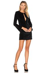 Вельветовое платье с рукавами-колокол - 3x1