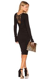 Кружевное платье с рюшами длинный рукав - Pam & Gela