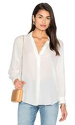Блуза с жатой кокеткой сзади - Vince