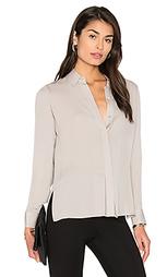 Прошитая блуза с плиссировкой - Vince