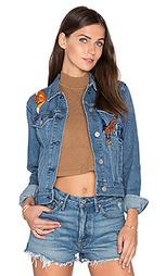 Джинсовая куртка с вышивкой emi - 3x1