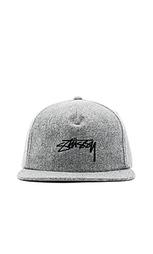 Мягкая шерстяная кепка с ремешком сзади melton - Stussy