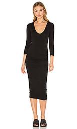 Узкое платье с v-образным вырезом classic - James Perse