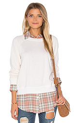 Plaid double layer sweatshirt - MONROW