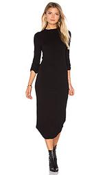 Платье с длинным рукавом и овальным вырезом - MONROW