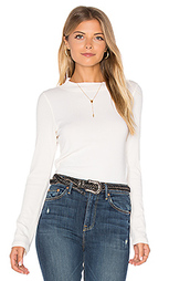 Mock neck rib long sleeve - MONROW