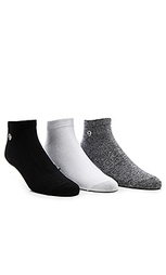3-pack mini ss link no show socks - Stussy