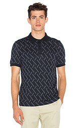 Abstract jacquard pique shirt - Fred Perry x Raf Simons