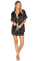 Короткая шелковая пижама - KISSKILL