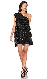 Платье с рюшами на одно плечо - Cynthia Rowley
