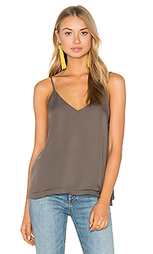 Silk double layer pleat cami - Heather