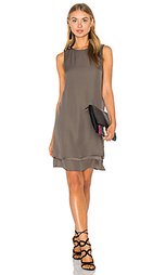 Georgette layered dress - Heather