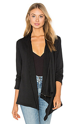 Куртка из футера с молнией на плече - Heather