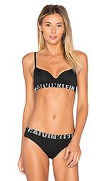 Бесшовный бюстгальтер с половинными чашками и логотипом - Calvin Klein Underwear