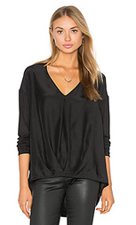 Silk tuck front top - Heather