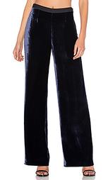 Широкие брюки из шелка и вельвета - T by Alexander Wang