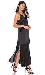 Платье-комбинация из шелка и шифона - T by Alexander Wang