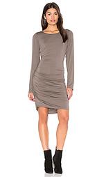 Shirred side scoop back dress - Heather