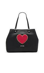 Сумка тоут heart - Love Moschino
