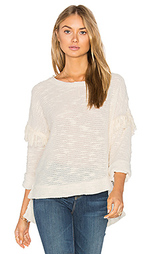 Drop shoulder fringe sweater - maven west