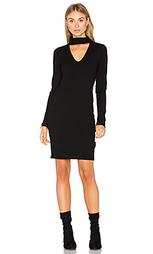 Платье в рубчик с длинным рукавом - Eight Sixty