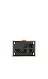 Прямой клатч из люцита - Love Moschino