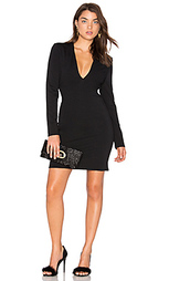 Deep v ponte dress - BLAQUE LABEL