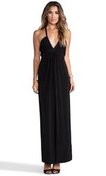 Платье-макси с глубоким v-образным вырезом - T-Bags LosAngeles
